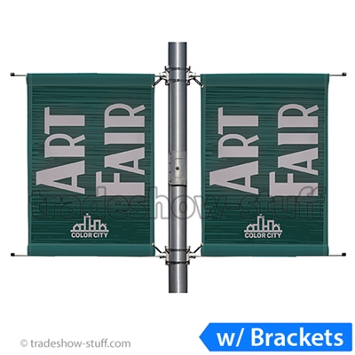 24in Double-Span Street Pole Banner