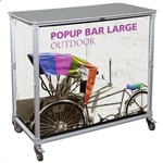 Portable Popup Bar Large Cart