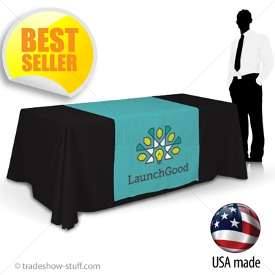 "36"" wide Custom Table Runner with Logo"