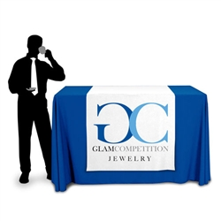 "42"" Wide Demonstraion Height Table Runner with Logo"