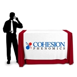 "60"" Wide Demonstration Height Table Runner with Logo"