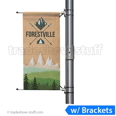 3ft Single-Span Street Pole Banner