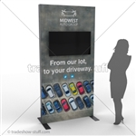 SEG Frame Dual Monitor Kiosk Display