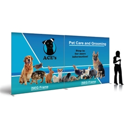 SEG Silicone Edge Graphic Double-Wide Frame Floor Display Kit