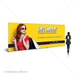 20ft SEG Frame Fabric Backwall Banner Display