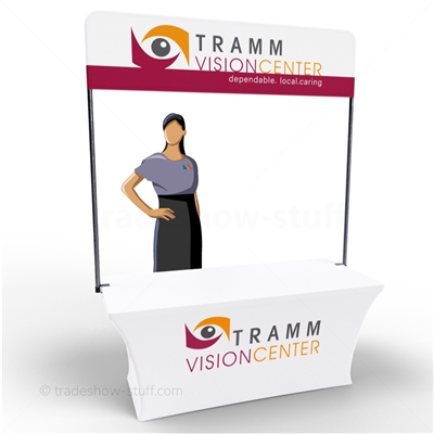 6ft Viewpoint Table Banner Stand