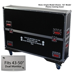 "43"" - 50"" Gator Road Case -  For Dual (x2) Flat Panel Monitors"