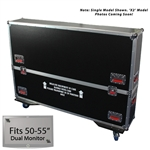 "50"" - 55"" Gator Road Case -  For Dual (x2) Flat Panel Monitors"