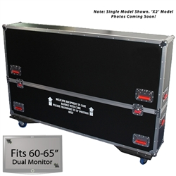 "60"" - 65"" Gator Road Case -  For Dual (x2) Flat Panel Monitors"