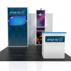 Visionary Hybrid Rental Modular Display 10' x 10'