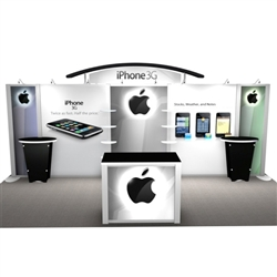 iPhone w/ Workstations Hybrid Trade Show Rental Display