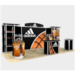 Adidas Hybrid Trade Show Rental Display