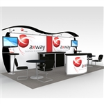 Axway Hybrid Trade Show Rental Display