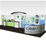 Clearwire Hybrid Trade Show Rental Display