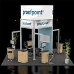 Proofpoint Hybrid Trade Show Rental Display