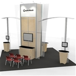 Island w/ Accent Wings Hybrid Trade Show Rental Display