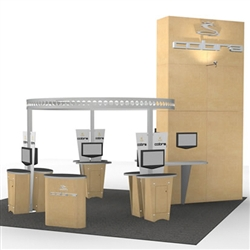 Island w/ Truss Ring Hybrid Trade Show Rental Display