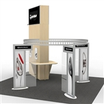 Island w/ Tower Hybrid Trade Show Rental Display