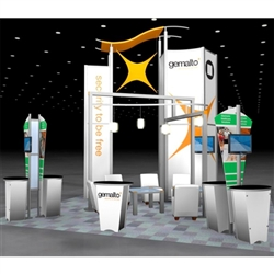 Gemalto Hybrid Trade Show Rental Display