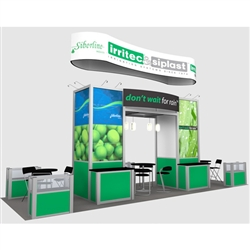 DynDim Siplast Hybrid Trade Show Rental Display