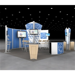 Cern Island Hybrid Trade Show Rental Display