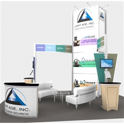 Light Age Hybrid Trade Show Rental Display