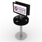 Phone Charging Station Kiosk Rental w/ Monitor Mounts