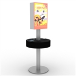 Phone Charging Station Rental Kiosk w/ Lightbox
