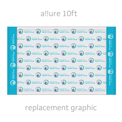 Replacement Graphic for a!!ure 10ft Step & Repeat Display