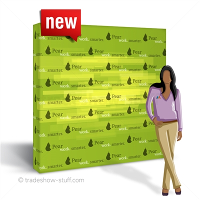 a!!ure 8ft Tension Fabric PopUp Step and Repeat Backdrop
