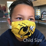 Custom Printed, Standard Flat Face Mask; Anti--bacterial fabric