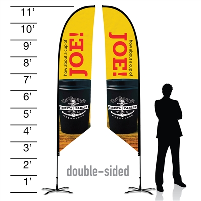 11ft Feather Advertising Flags - Double sided