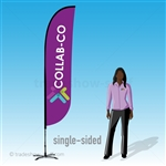 tradeshow-stuff Custom Feather Flags - Single-sided