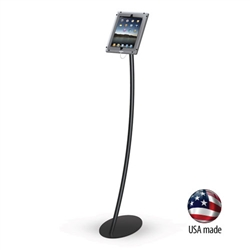 Eclipse iPad Kiosk Anti-theft Curved Floor Stand for Trade Shows