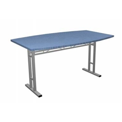 Portable Trade Show 5ft Arc Side Conference Table