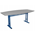Portable Trade Show 6ft Arc Side Conference Table
