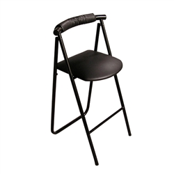 Portable Trade Show Stool Curve Back