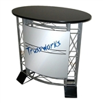 Small Oval EZ6 Trade Show Truss Counter