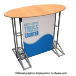 Oval Top Truss Counter Graphic Package