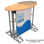Oval Top Truss Counter Graphic