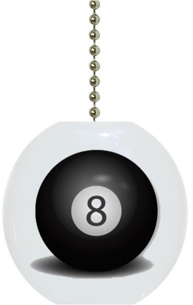Billiards Eight Ball Fan Pull