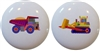 Kids Construction Knobs - Set of 2