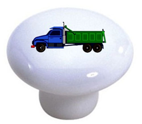 Blue And Green Dump Truck Knob