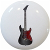Black and Red Guitar Knob