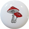Red Mushrooms Knob