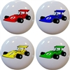 Race Car Knobs - Set of 4