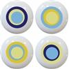 Blue Retro Circle Knobs - Set of 4