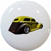 Yellow and Black Coupe Hot Rod Car Knob