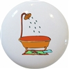 Orange Bathtub Knob