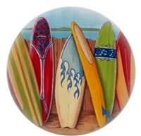 Surfboards with Blue Flames Knob